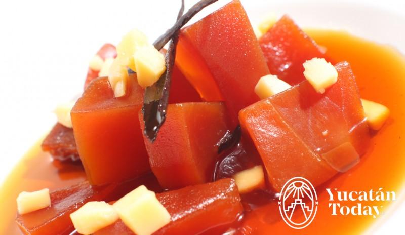 Dulce de Papaya cocina yucateca