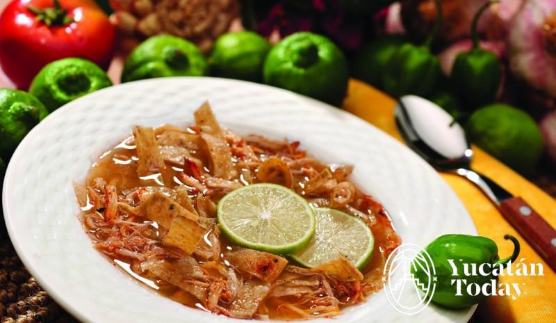 Sopa de Lima cocina yucateca