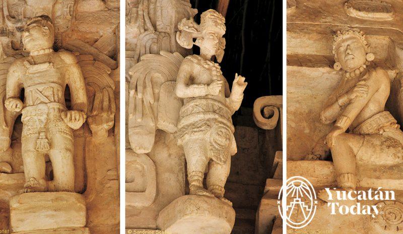 Ek Balam estatuas