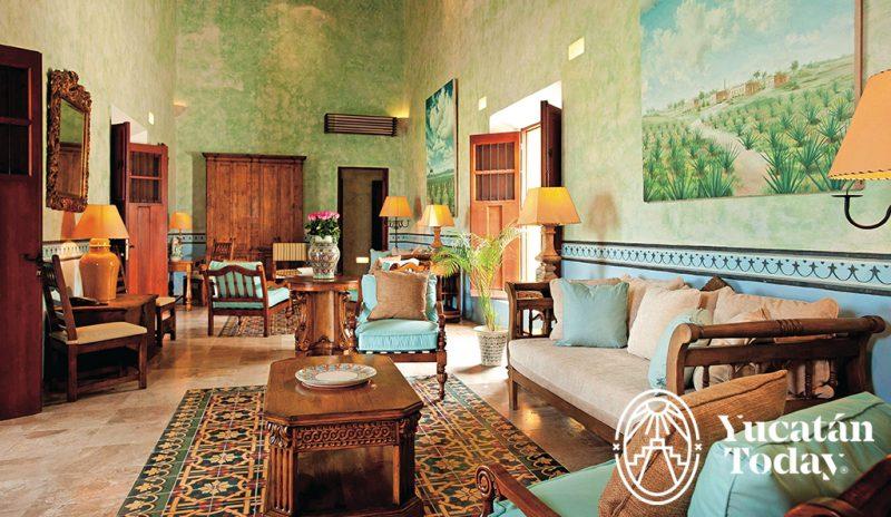 Bienes ra ces casas coloniales yucatan today for Salas coloniales