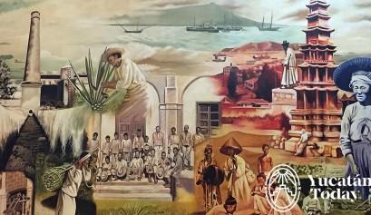 Museo de la Inmigracion Coreana en Merida mural