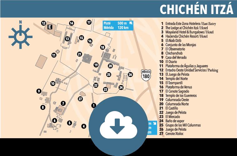 Chichén Itzá Map Yucatan Today - Chichen itza map
